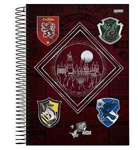 Caderno Capa Dura 20 Matérias Harry Potter 400 Folhas