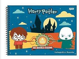 Caderno Cartografia C/D 96 Folhas Harry Potter Jandaia