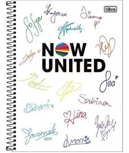 Caderno Universitário 10x1 CD 160 Folhas Now United 1 Tilibra