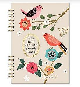 Planner Compacto Mensal Pássaros Fina Ideia