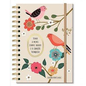 Caderno Pontilhado Fina Ideia Pássaros