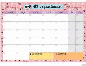 BLOCO MENSAL DE MESA BM72 CARTOES GIGANTES