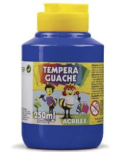 Tempera Guache 250 ml, Acrilex, Azul Turquesa