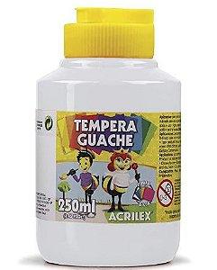 Tempera Guache 250 ml, Acrilex, Branco