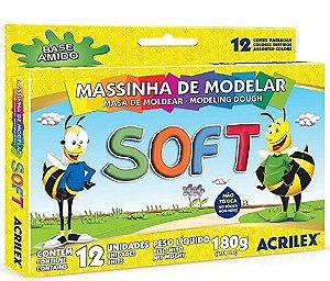 Massinha Soft Conjunto com 12 Cores Acrilex