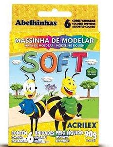 Massa De Modelar - Soft 90gr - 6 Cores  - Acrilex