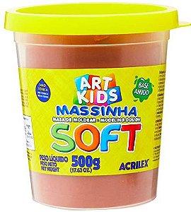 Massa de Modelar Soft Acrilex Chocolate 500g
