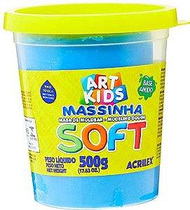 Massa de Modelar Soft Acrilex Azul 500g