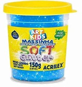 Massa P/modelar Soft Glitter 150g Azul 204  Acrilex