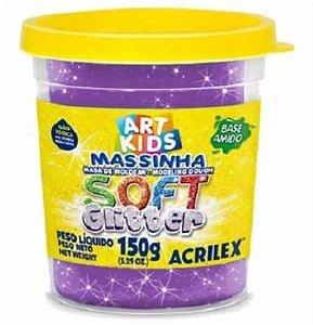 Massa P/modelar Soft Glitter 150g Violeta 207 Acrilex