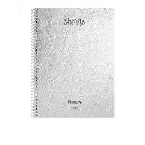 Agenda Planner Espiral Shine Metalizada Permanente - Foroni