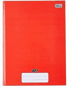Tilibra D+ - Caderno Brochura Capa Dura, 200x275mm, 96 Folhas, Vermelho