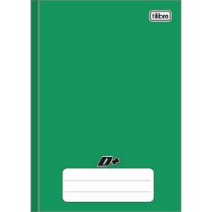 Tilibra D+ - Caderno Brochura Capa Dura, 200x275mm, 96 Folhas, Verde