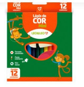 Lápis Mini 12 Cores