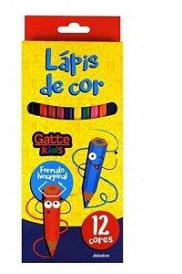 Lápis de Cor 12 Cores - Gatte