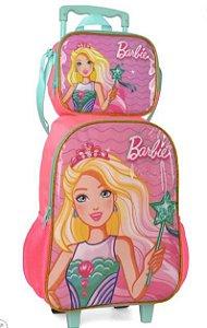 Mochila De Rodinha C/ Lancheira -  Barbie