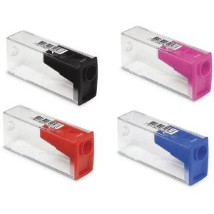 Apontador C/dep Cristal Sortido - Faber Castell