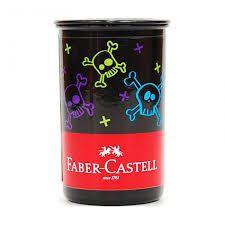 Apontador C/dep Estampa Caveirinhas -faber Castell