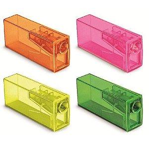 Apontador C/dep Simples Neon - Faber Castell