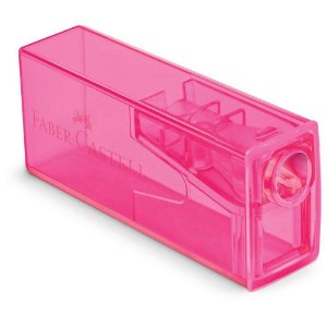 Apontador C/dep Liso Rosa - Faber Castell