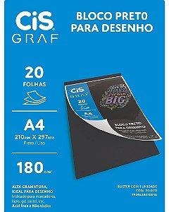 Bloco A4 180g/m 20f Preto - Cis
