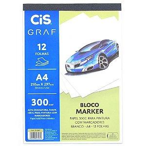 Bloco A4 300g 12f Marker Branco - Cis