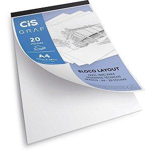 Bloco Layout A4 180g/m 20f - Cis