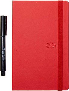 Caderneta Creative 84f Pautado Vm + Caneta - Faber