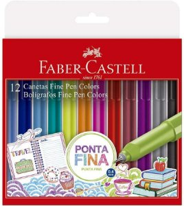 Estojo C/12 Caneta Fine Pen Colors - Faber Castell