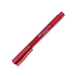 Caneta Fine Pen 0,4 Vinho - Faber Castell