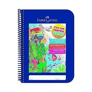 Caderno Criativo 96f Azul - Faber Castell