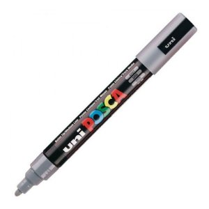 Caneta Bulled Shaped Posca 5m Cinza - Uni
