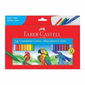 Canetinha C/24 Cores - Faber Castell