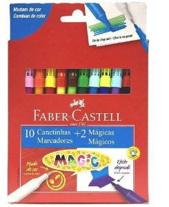 Canetinha C/10 Cores + 2 Magic - Faber Castell