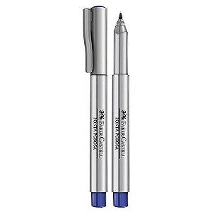 Caneta Hidrografica Porosa Azul - Faber Castell
