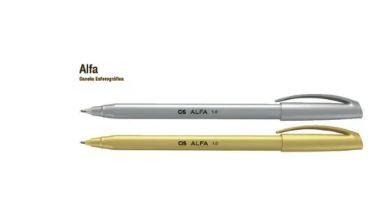 Caneta Esf 1,0mm Alfa Prata/ Dourada - Cis