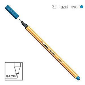 Caneta Point 88/32 0,4mm Azul Royal - Stabilo