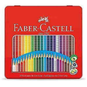 Ecolapis Cor C/24 Cores Grip Lata - Faber Castell