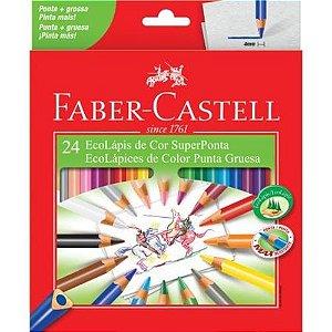 Ecolapis Cor C/24 Super Ponta - Faber Castell