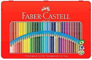 Ecolapis Cor C/36 Cores Grip Lata - Faber Castell