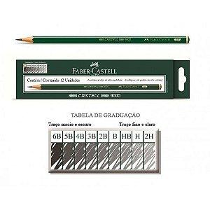 Lapis Grafite Castell 9000 4b C/12 - Faber Castell