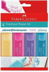 Estojo C/4 Marca Texto Pastel - Faber