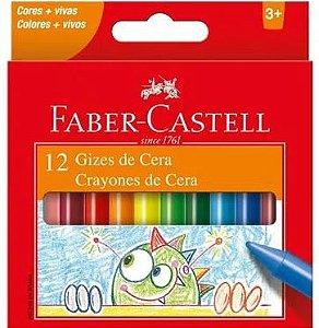 Giz De Cera C/12 Cores Sortidas - Faber Castell