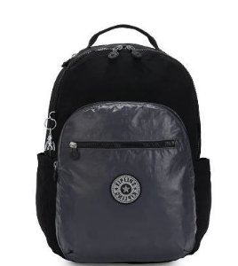Mochila Costas Seoul Black Sea Metallic - Kipling