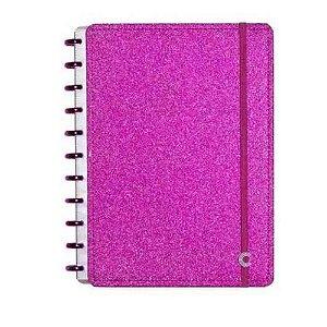 Caderno Inteligente Pequeno Glitter Pink-caderno I