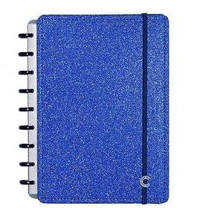 Caderno Inteligente A5 Glitter Blue-caderno Inteli