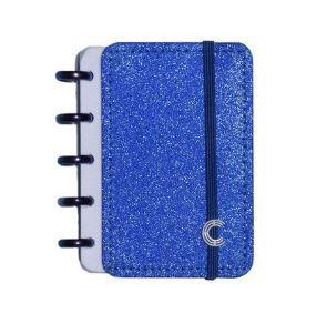 Caderno Inteligente Pequeno Glitter Blue-caderno I