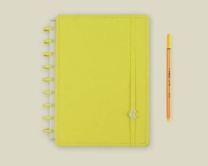 Caderno Inteligente Medio All Yellow - Caderno Int