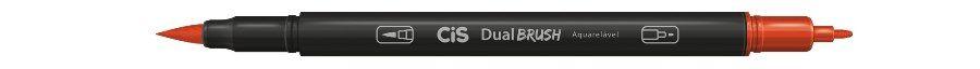 Marcador Dual Brush Aquarelavel 17 Vermelho - Cis
