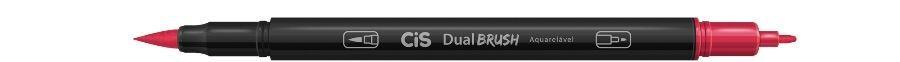 Marcador Dual Brush Aquarelavel 16 Carmesim - Cis